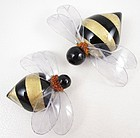 Whimsical Cilea of Paris Resin Bumble Bee Pin (Small)