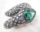 Spectacular Jarin Kasi Sterling Pave Crystal Snake Bracelet