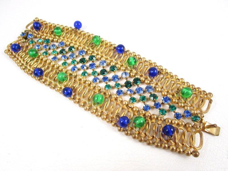 Unusual Countess Cissy Cis Zoltowska Rhinestone Crystal Bracelet