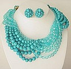 Lovely Coppola E Toppo Turquoise Necklace and Earrings