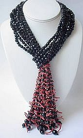 Gorgeous Coppola e Toppo Black Crystal Coral Lariat