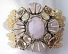 Stunning Iradj Moini Citrine Rose Quartz Bracelet