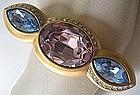 Bold Monet Rhinestone Bangle Bracelet