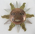 "Emilia ""Mimi"" Los Castillo Sterling & Copper Sun Pin"