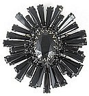 Classic Schreiner of New York Jet Ruffle Pin
