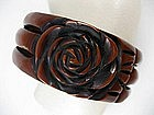 Unusual Carved and Overdyed Bakelite Bracelet