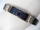 Perli Modernist Silver Matte Enamel Bracelet