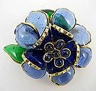 Gorgeous Histoire de Verre Gripoix Flower Pin