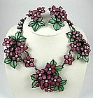 Important and RARE Maison Gripoix Necklace & Earrings