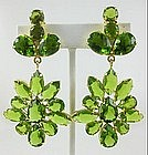 Beautiful Sterling Gold Vermeil Peridot Earrings