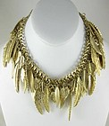 Dramatic Debra Fine Yohai Dangling Leaf Bib Necklace