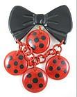 Charming Shultz Bakelite Polka Dot Dangling Pin