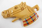Adorable Vintage Bakelite Horse Head Pin