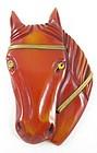 Classic Resin Dyed Bakelite Horse Head Pin