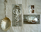 "Large Old Gorham ""Versailles"" Sterling Berry Spoon"