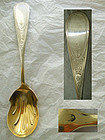 Krider & Biddle (Philadelphia) Engraved Coin Silver Berry Spoon
