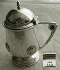 """Gorham """"Medallion"""" Coin Silver Pedestal Mustard Pot"""