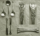"5 Gorham ""King George"" Sterling Silver Place Pieces"