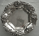 Theodore Starr Reticulated Large Sterling Floral Bowl