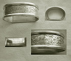 "Webster Sterling Silver Napkin Ring Engraved ""John"""