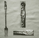 "Whiting ""Heraldic"" Sterling Silver Oyster Cocktail Fork"