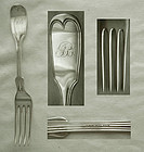 "Large R&W Wilson ""Thread"" Coin Silver Dinner Fork"