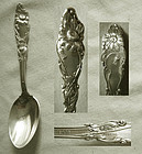 "Gorham ""H 409"" Sterling Silver Floral Teaspoon"
