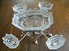 19th Century Silverplate & Cut Glass Epergne