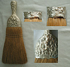 Gorham Repousse Sterling Handle Whisk Broom