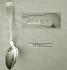 """A.F. Trufant, Abington, Ma., """"Fiddle Tipt"""" Dessert Spn."""