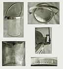 Unusual Hawkes Sterling & Glass Self-Opening Jam Jar