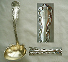 "Quality Whiting ""Louis XV"" Sterling Silver Gravy Ladle"