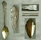 """Chicago Fire 1871"" Sterling Citrus Spoon with Provenance"