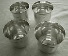 Four  London 1903 Sterling Silver Nested Beakers WGB Maker