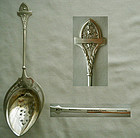 "Gorham ""Ivy"" Sterling Silver Pierced Ice Spoon"