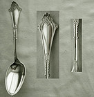 Wood & Hughes Viola Sterling Silver Dessert Spoon
