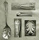"""Joseph Seymour Figural """"Prairie Flower"""" Coin Silver Sugar Spoon"""