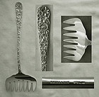 "Quality Estate Kirk & Son ""Repousse"" Sterling Silver Bacon Fork"