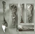 "Durgin ""Heraldic"" Sterling Silver Melon Spoon"