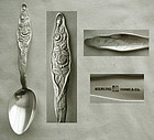 "Scarce Duhme ""Rose"" Sterling Silver Teaspoon"