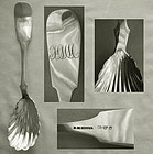 S.M. Hopper, Philadelphia, Coin Silver Berry Spoon with Shell Bowl