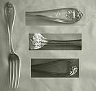 """Gorham """"Josephine"""" Coin Silver Tea or Dessert Fork"""