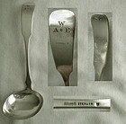 "Arthur Stone Heywood ""Reverse Tipt"" A&C Sterling Silver Sauce Ladle"