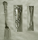 "Old Gorham ""Buttercup"" Sterling Silver Pastry Fork"