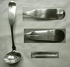 Boynton & Woodford, Boston, Long Handle Coin Silver Cream Ladle