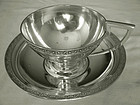 "Gorham  Number ""22"" 1871 Matching Sterling Silver Tea Cup & Saucer"