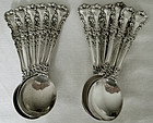 "12 International ""Avalon"" Sterling Silver Bouillon (Soup) Spoons"