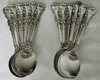 "12 International ""Avalon"" Sterling Silver Bouillon (Soup) Spoons"