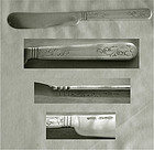Gale & Hughes 1849 Flat Handle Coin Silver Master Butter Knife