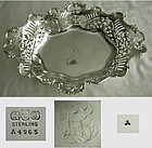 Gorham 1898 Reticulated Sterling Silver Open Bon Bon Dish
